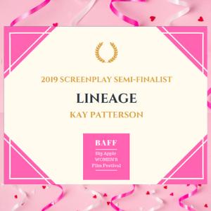Lineage script semi-finalist in Big Apple Film Festival