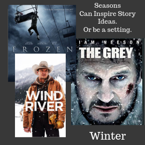 Movies with winter elements, frozen, the grey, wind river