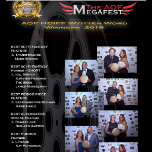 Lineage by Kay Patterson wins Best Horror at AOF Megafest 2019