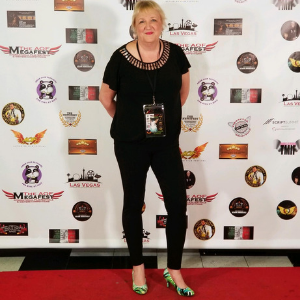 Screenwriter Kay Patterson on the red carpet in Las Vegas