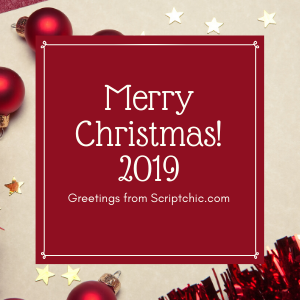 Merry Christmas from scriptchic 2019