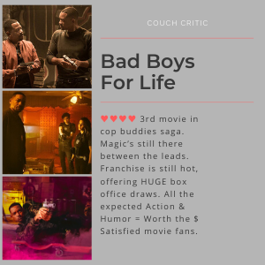 screenwriter kay patterson says Bad Boys For Life a box office hit