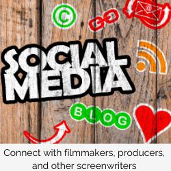 social media marketing post by screenwriter kay patterson